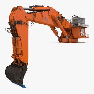 Backhoe Dredger Backacter 1100 Rigged 3D