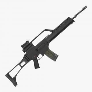3D model Assault Rifle HK G36