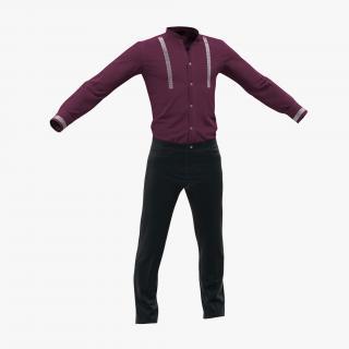 3D model Casual Men Clothes 5