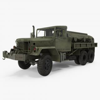 US Army Fuel Tank Truck m49 Rigged 3D model