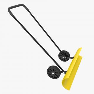3D Snow Shovel with Wheels model