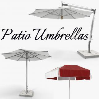 3D Patio Umbrellas Collection