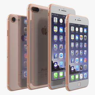 iPhone 8 Gold Collection 3D model