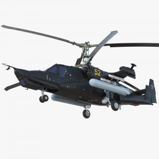 3D model Kamov Ka-52 or Alligator Russian Attack Helicopter
