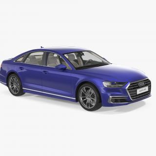 3D Audi A8 2018 Simple Interior model