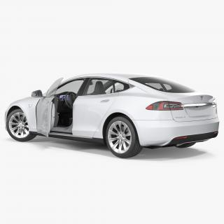 Tesla Model S 60D 2017 Rigged 3D model