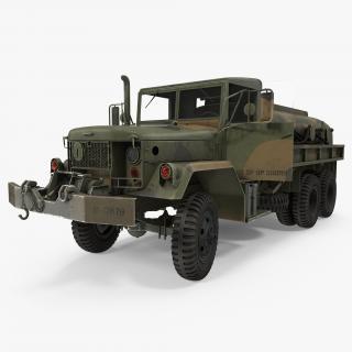3D Fuel Tank Truck m49 Rigged