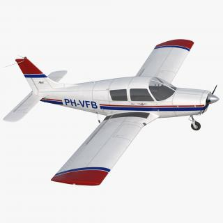 Private Aircraft Piper PA-28 Cherokee 3D