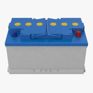 12 Volt Car Battery 3D model