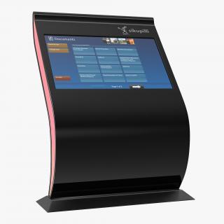 3D Promotional Interactive Information Kiosk