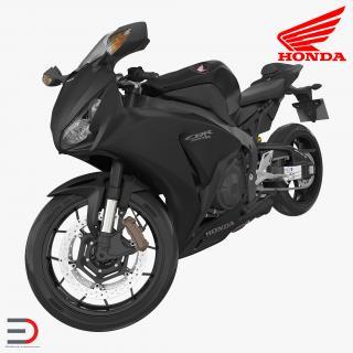 Sport Motorcycle Honda Fireblade 2017 Rigged 3D model