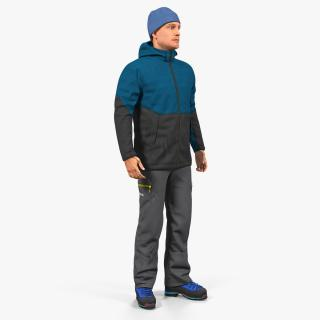 3D model Winter Men Sportswear Standing Pose