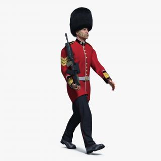 British Royal Guard Soldier Rigged 3D model