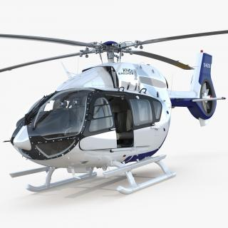 3D Light Utility Helicopter Eurocopter EC145 T2 Rigged