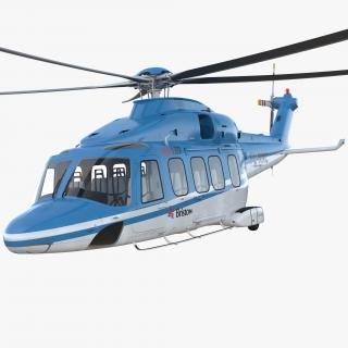 3D model Medium Lift Helicopter AgustaWestland AW189 Rigged