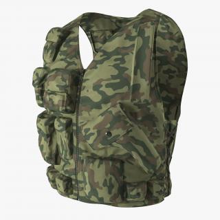 Military Camouflage Vest 3D model