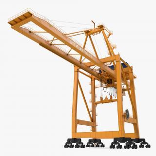 3D Container Handling Gantry Crane Orange model
