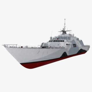 USS Freedom LCS-1 Rigged 3D model