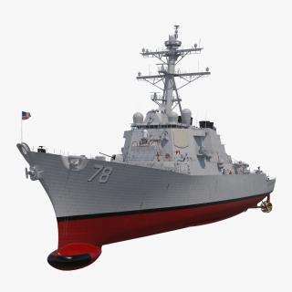 Arleigh Burke Destroyer Porter DDG-78 3D