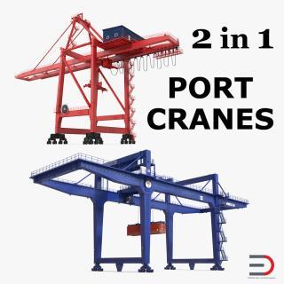 Port Cranes Collection 3D