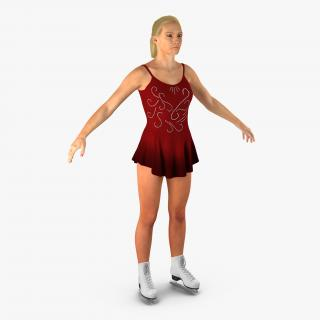 3D model Female Figure Skater