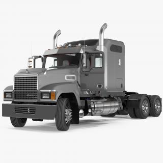 Mack CHU613 Truck Rigged 3D model