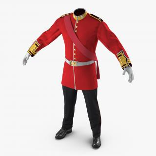 3D model Irish Guard Sergeant Uniform 2