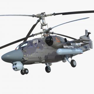 Attack Helicopter KA52 Black Shark Hokum A 3D