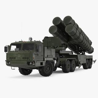 S-400 Triumf Launch Vehicle Rigged 3D model