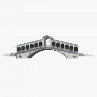3D model Rialto Bridge Venice
