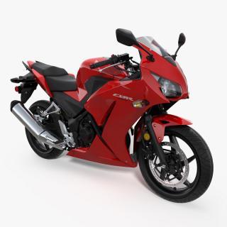 3D Honda CBR300R 2016 Lightweight Motorcycle