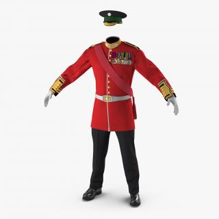 3D Irish Guard Sergeant Uniform model