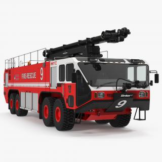 3D model Oshkosh Striker 4500 ARFF Airport Engine