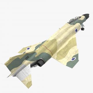 F-4E Kurnass Israeli Air Force 2 Rigged 3D model