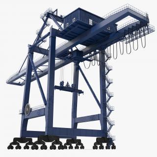 3D model Container Crane Blue