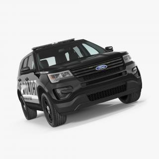 3D Ford Police Interceptor Unit 2016 model
