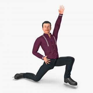 3D model Male Figure Skater Rigged