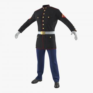 3D model USMC US Marine Officer Uniform