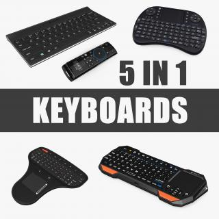 Portable Mini Keyboards Collection 3D model