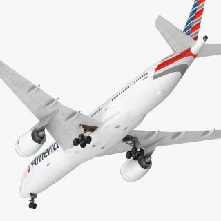 3D model Airbus A350-900 American Airlines Rigged