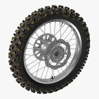 3D Motocross Motorcycle Rear Wheel