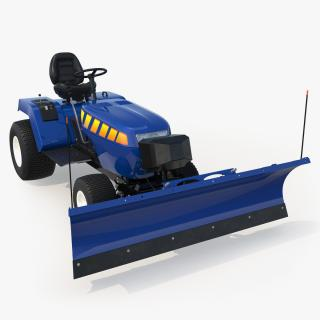 Tractor with Snow Plow 3D