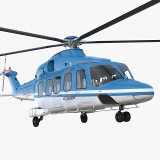 3D Medium Lift Helicopter AgustaWestland AW189 model