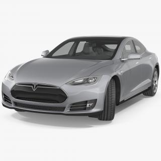 Tesla Model S 75D 2015 Rigged 3D model