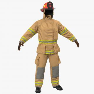 US Firefighter Uniform 3D
