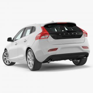 3D model Volvo V40 Hatchback Simple Interior