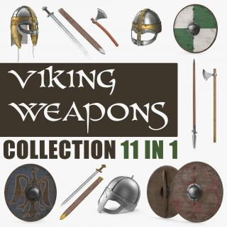 3D model Viking Weapons Collection