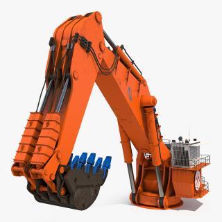 3D model Backhoe Dredger Backacter 1100