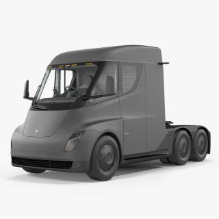 3D model Electric Semi Truck Tesla