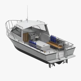 Dive Boat 3D model